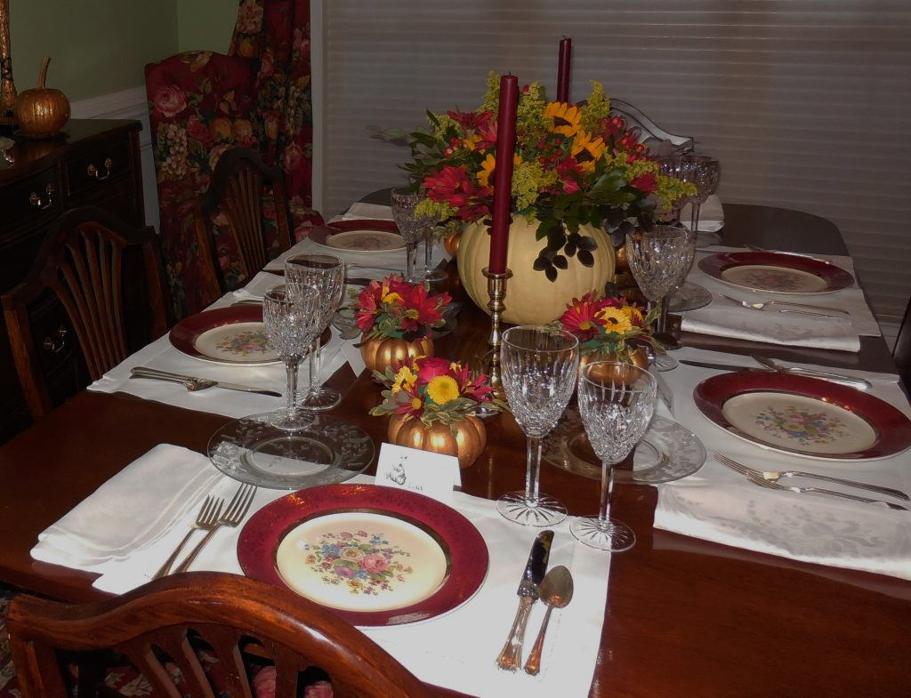 Thanksgiving Table Settings--No Jive Turkey!