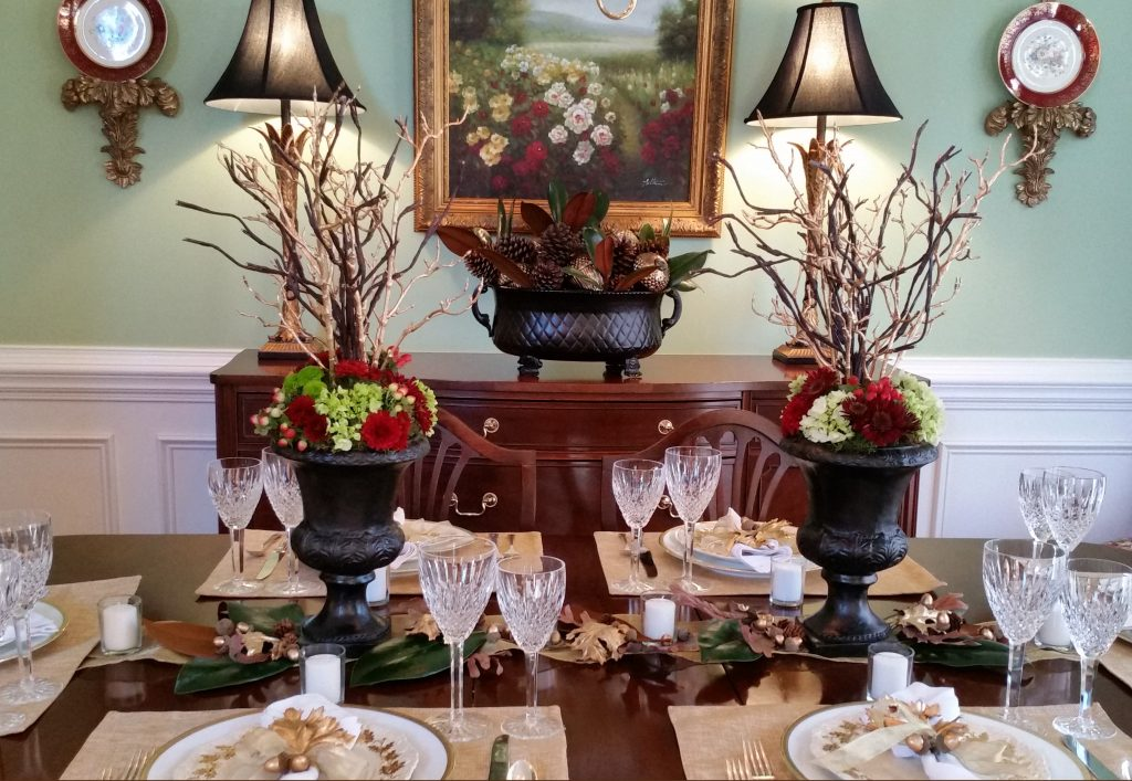 Golden Acorn Thanksgiving Table-2016--Thanksgiving Table Settings--No Jive Turkey!