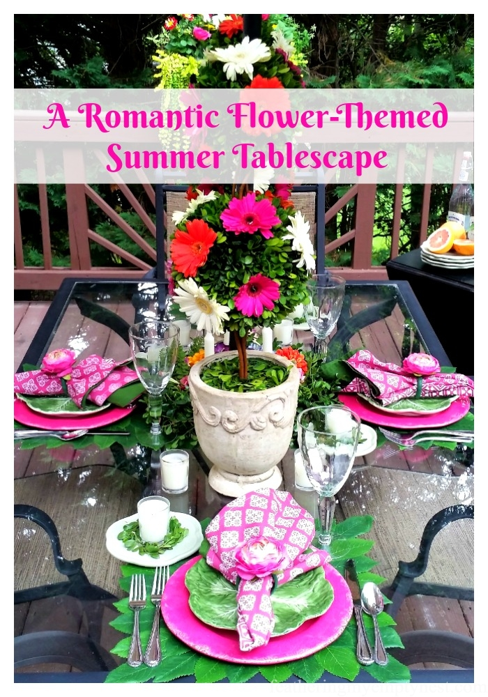 A Romantic flower-themed summer tablescape