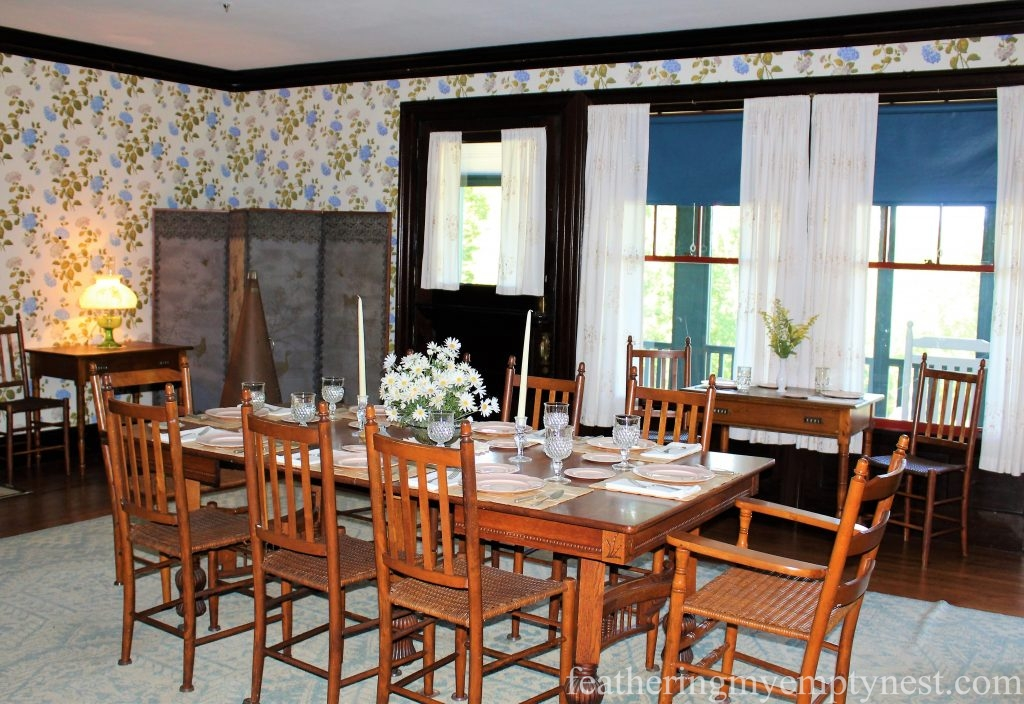 Dining Room in the Roosevelt Cottage --FDR Slept Here: A Tour of Campobello Island