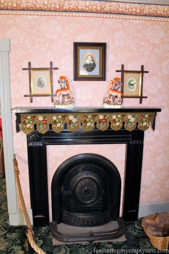 The fireplace in the parlor of Green Gables -- What To See On Prince Edward Island --Green Gables Plus A Whole Green Island