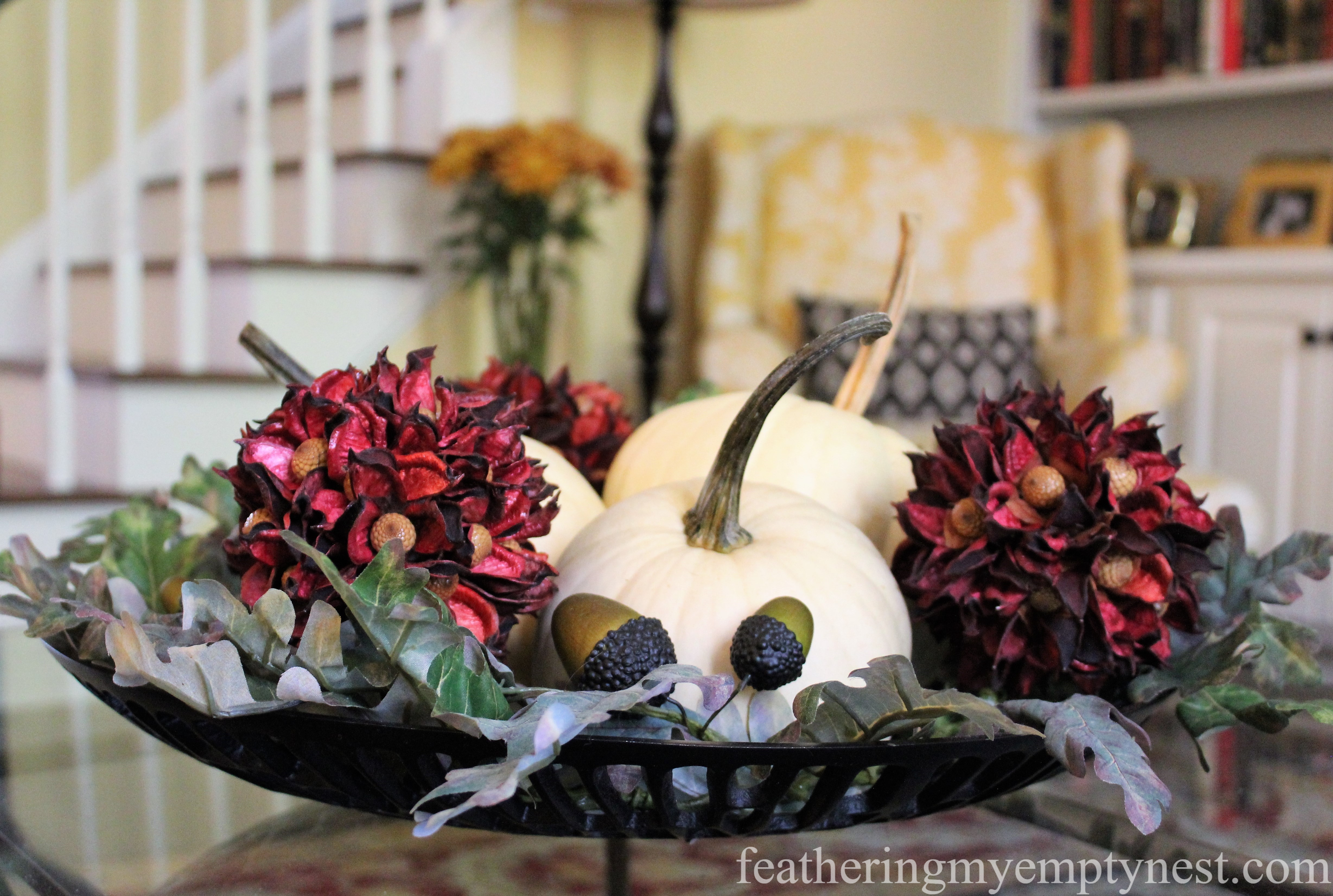 Easy Fall To Christmas Coffee Table Arrangements