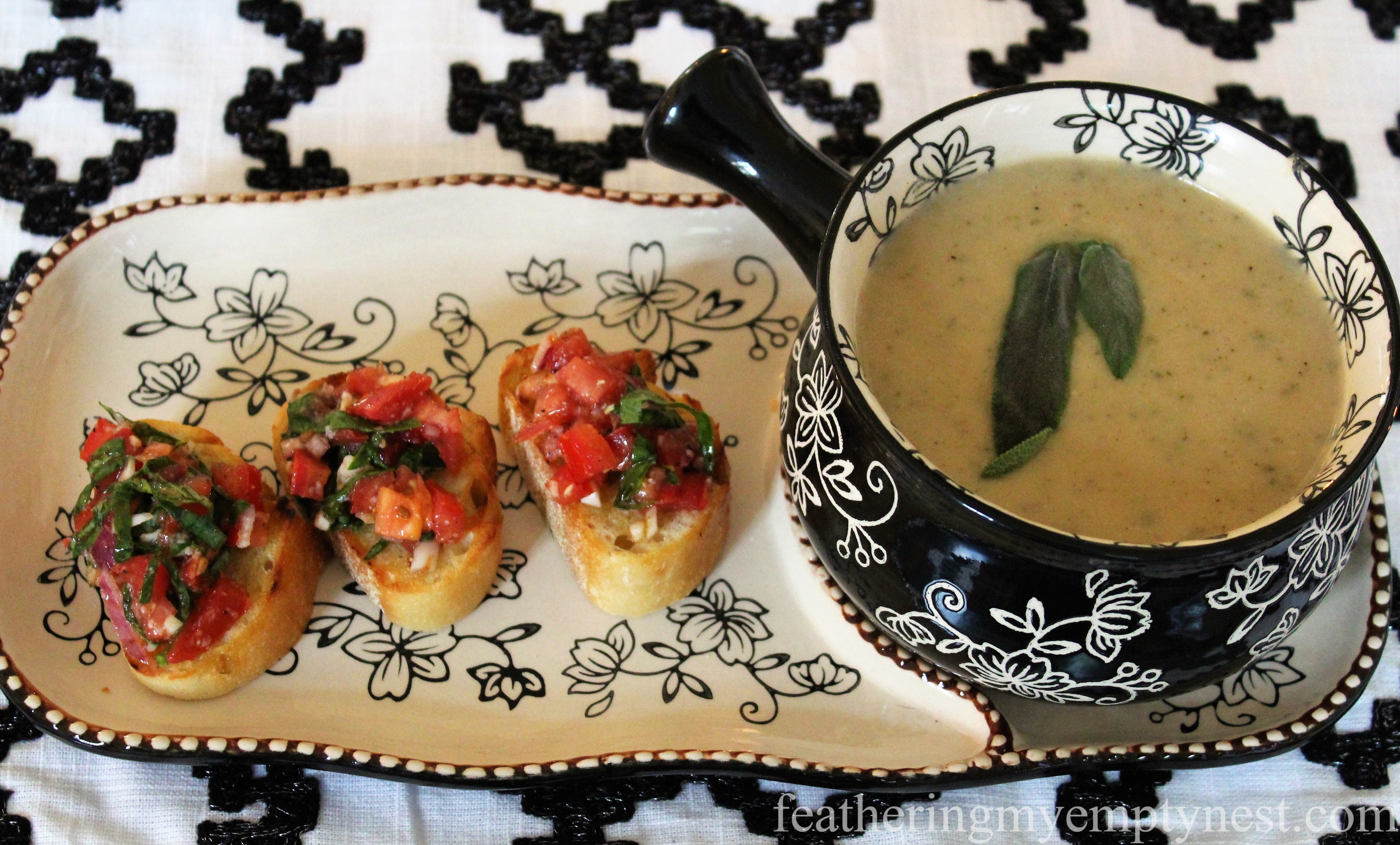 White Bean Soup & Bruschetta make a warm and comforting winter meal