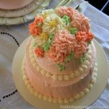 Tiered Blush Language of Flowers Cake