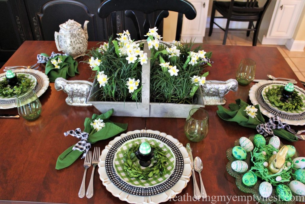 How To Set A Fresh Fun Farmhouse Easter Table With A Bit Of Gingham