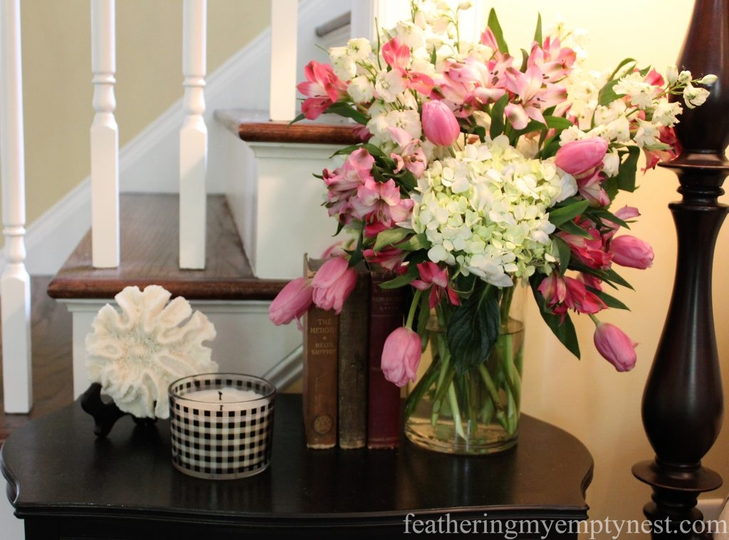 Tulip arrangement --Arranging Tulips With Flower Arranging Tools & Tulipieres