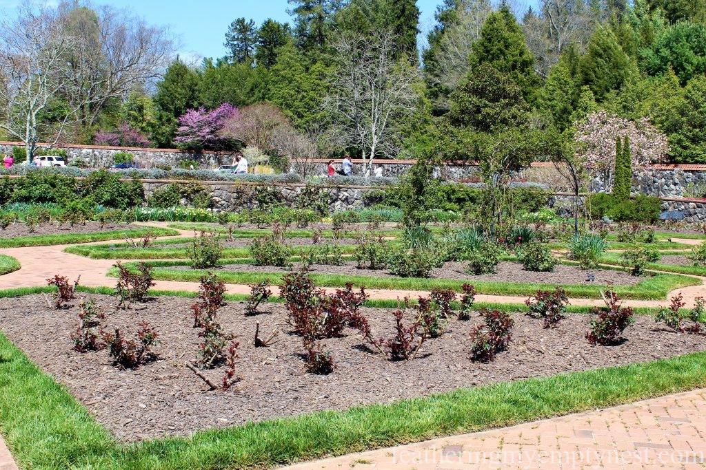 The formal Rose Garden not yet in bloom in Spring --A Spring Tour Of The Biltmore Estate Gardens