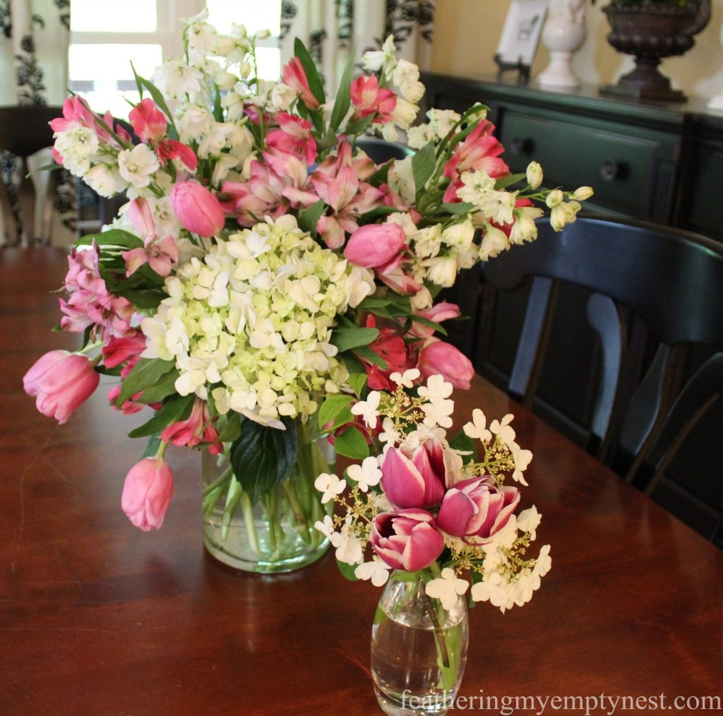 tulip flower arrangements --Arranging Tulips With Flower Arranging Tools & Tulipieres