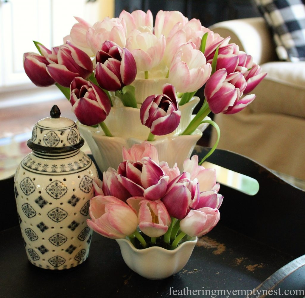 Arranging Tulips With Flower Arranging Tools & Tulipieres