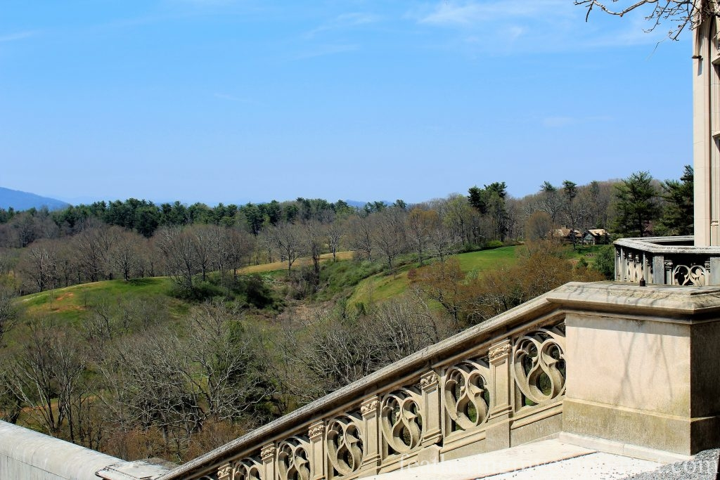 View From the South Terrace of The Biltmore Mansion in Asheville, NC --A Spring Tour Of The Biltmore Estate Gardens