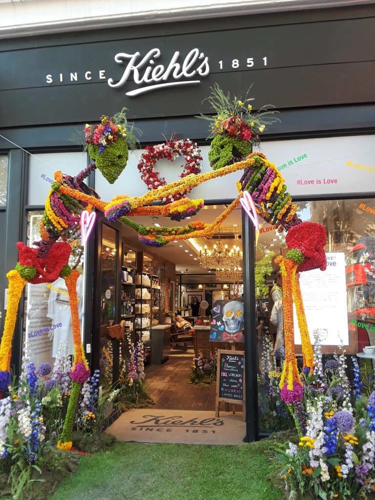 Kiehl's dancing skeletons --Chelsea In Bloom: 2018 Chelsea Flower Show Part 1