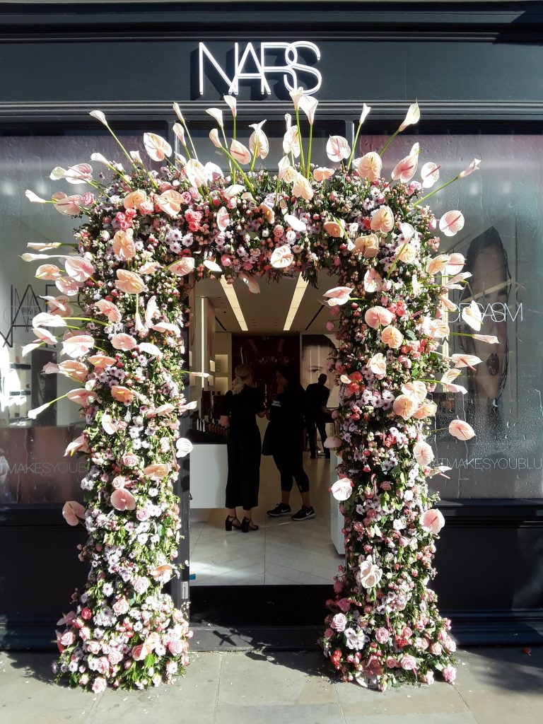 Nars peachy pink floral garland --Chelsea In Bloom: 2018 Chelsea Flower Show Part 1