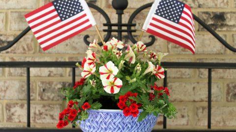 Mixing Bowl Patriotic Planter-- Last Minute Memorial Day Decorations