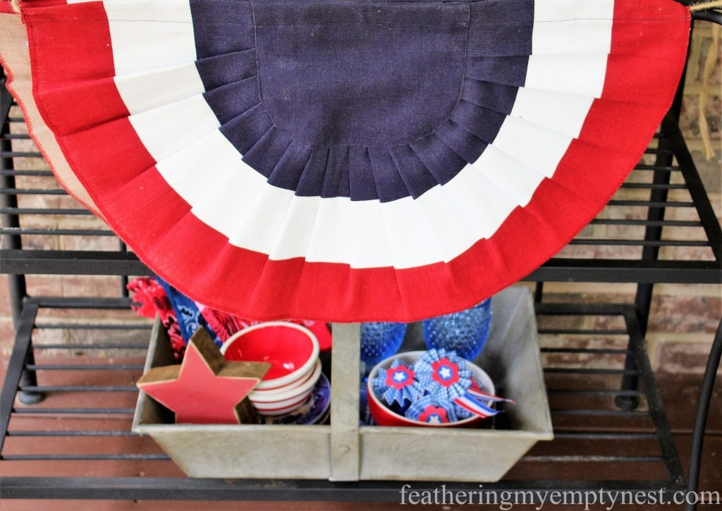 Bunting --Last Minute Memorial Day Decorations