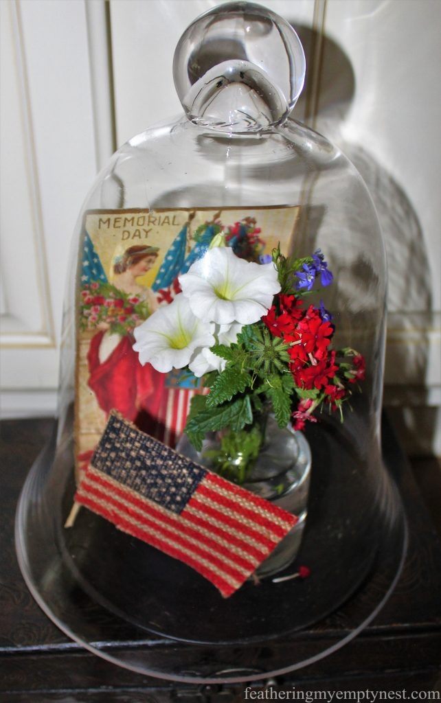 Patriotic vignette --Last Minute Memorial Day Decorations