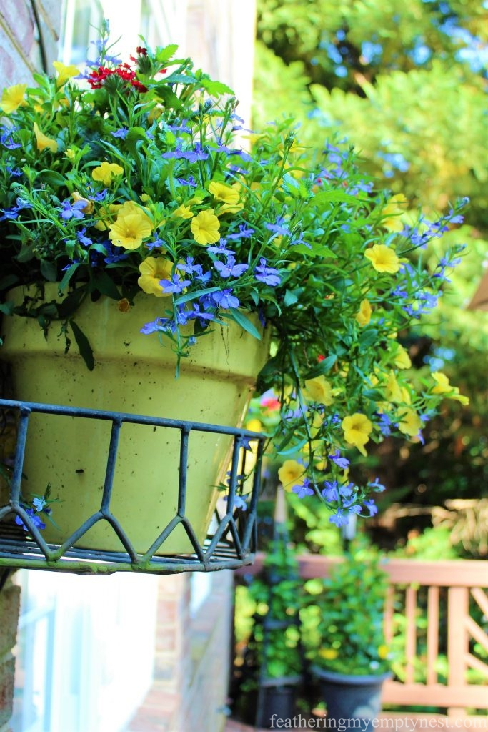-Summer Flower Planters On The Deck