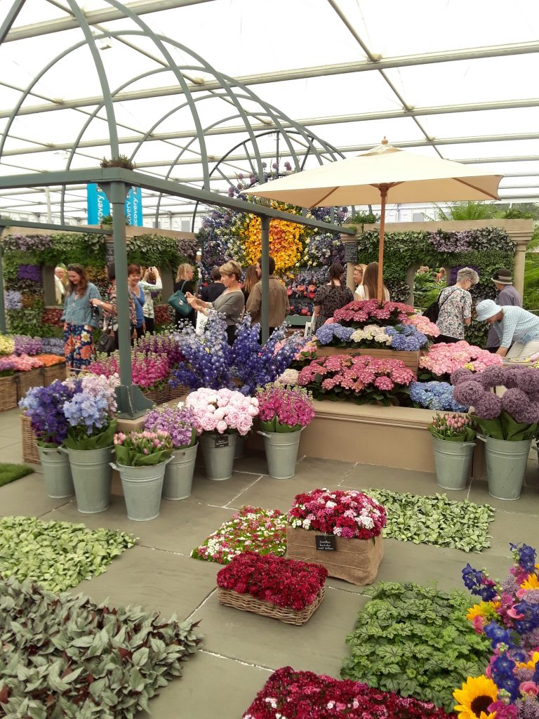Floral pavement and flower market display in the Great Pavillion of the 2018 Chelsea Flower Show --Why The Chelsea Flower Show Should Be On Your Bucket List