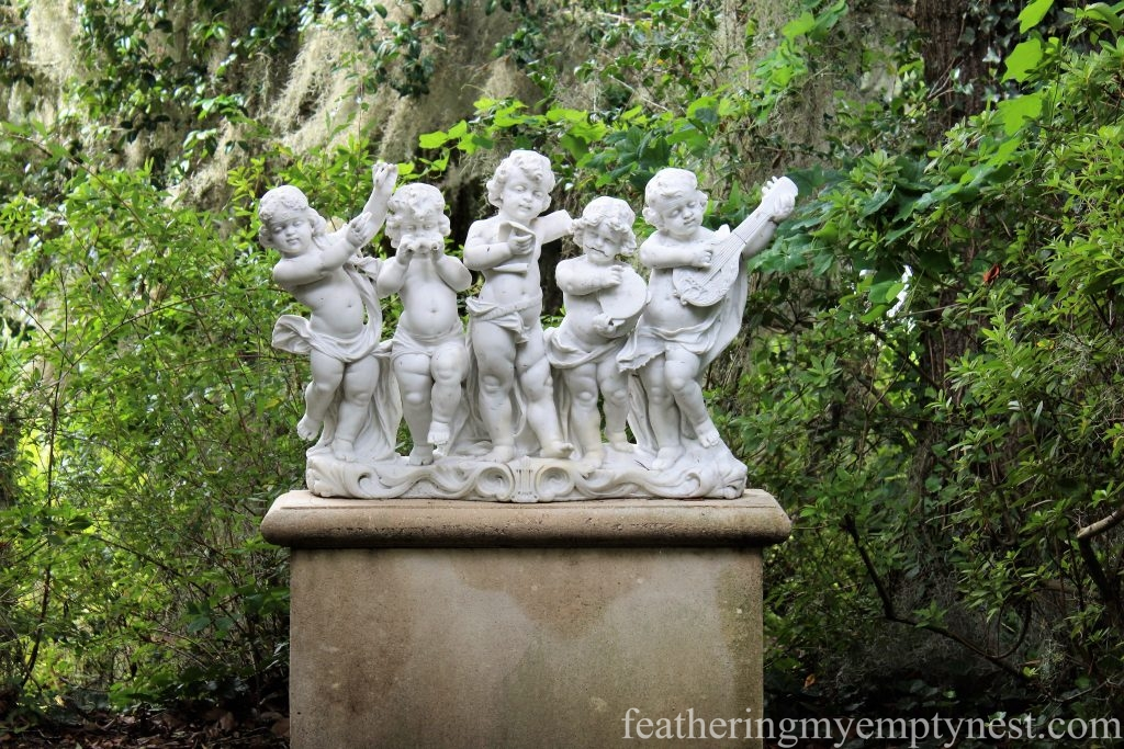 Musical Cherubs statue --Exploring The Enchanting Gardens Of Middleton Place