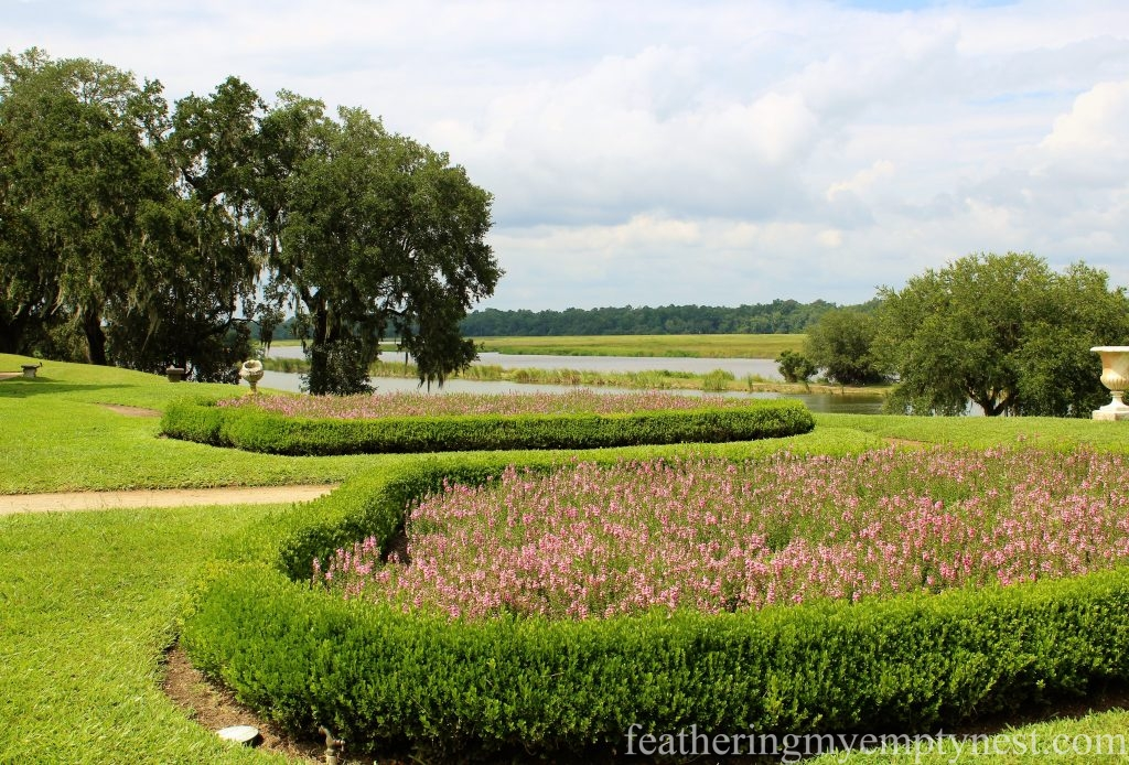 Garden parterres on the front lawn --Exploring The Enchanting Gardens Of Middleton Place