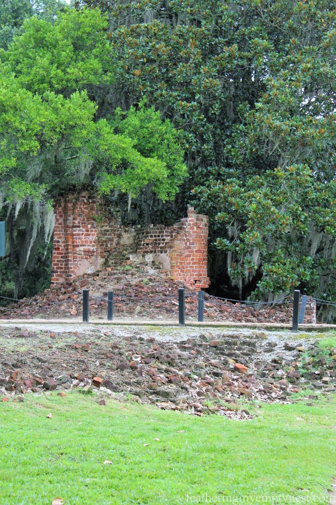 Ruins of Main House and North Flanker --Exploring The Enchanting Gardens Of Middleton Place