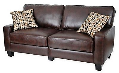 "Serta RTA Palisades 73"" sofa is the perfect size for a small apartment --""Inexpensive Apartment Decorating Ideas"""