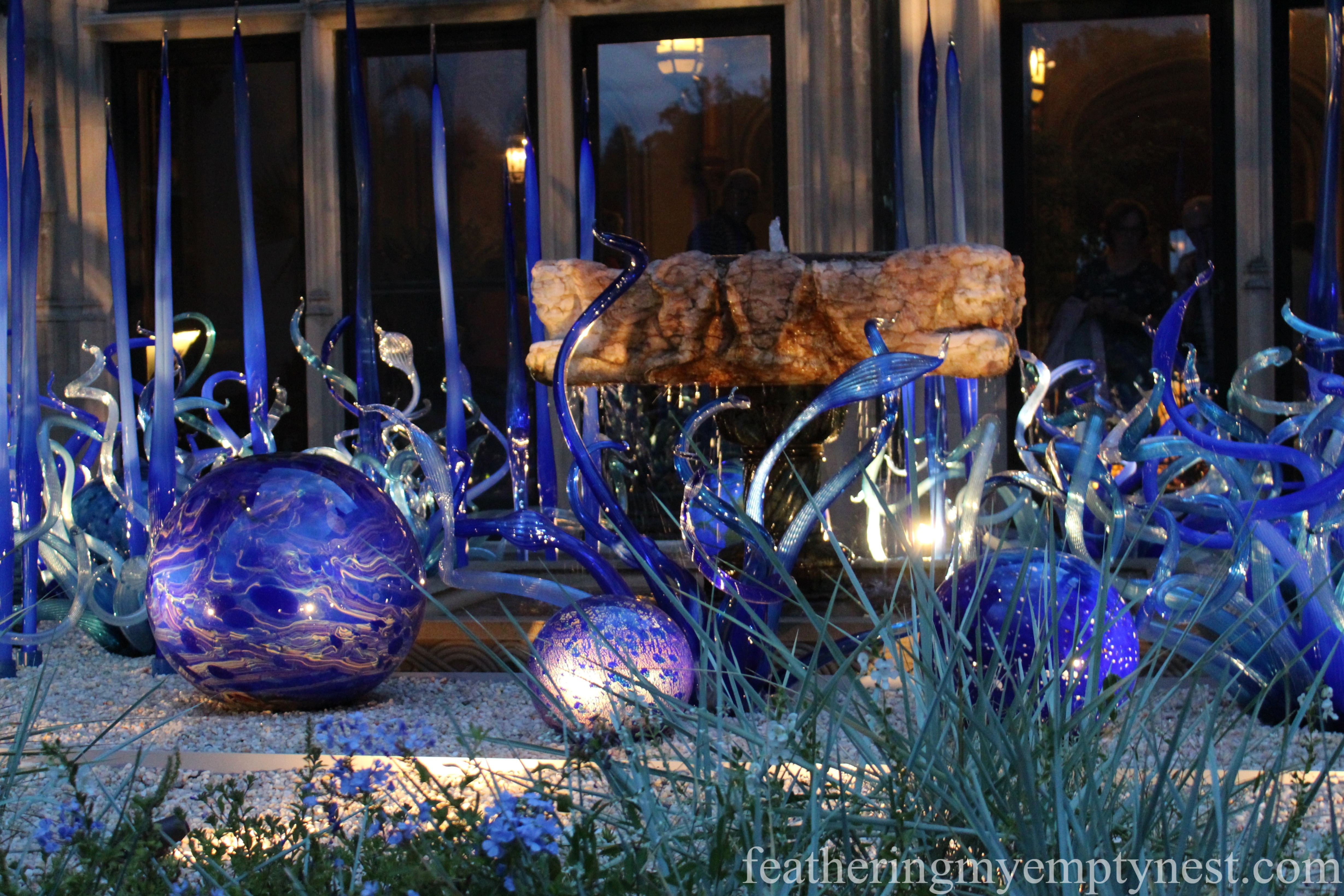 Chihuly glass sculpture at the Biltmore --Chihuly At Night At The Biltmore