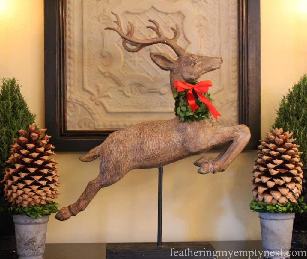 Leaping reindeer --Christmas Decorating Odds & Ends