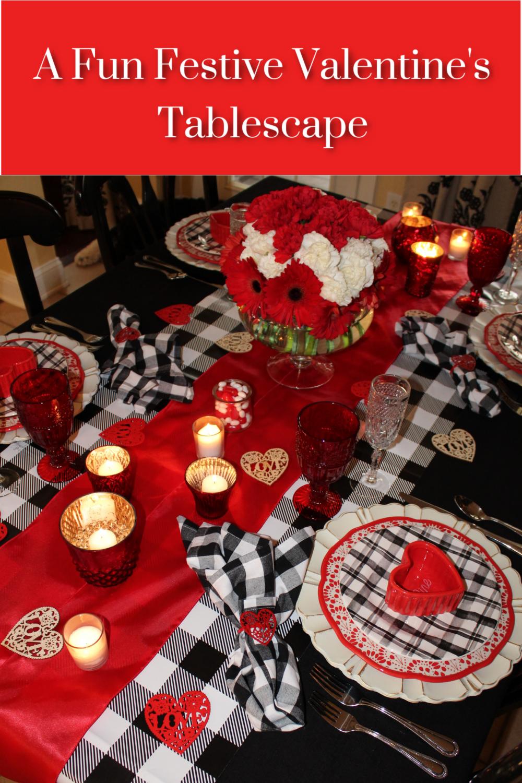 How to create a fun festive Valentine's Tablescape plus a special dinner menu