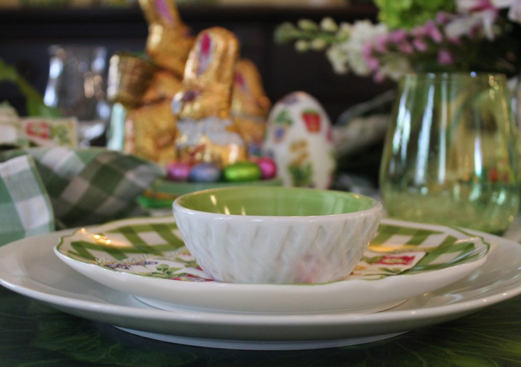 A Grown-up Easter Candy Tablescape--place setting