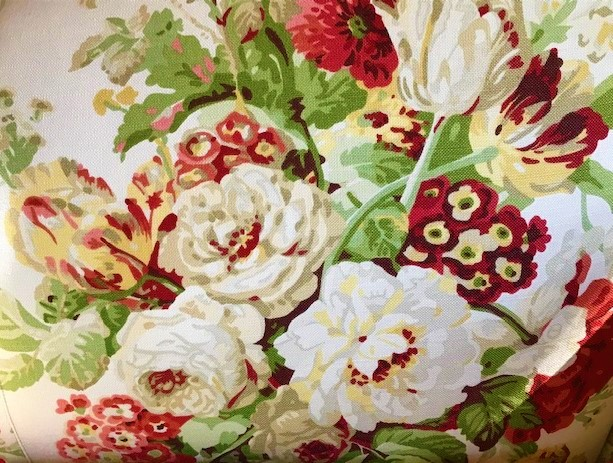 Vintage inspiration fabric for summer planters.