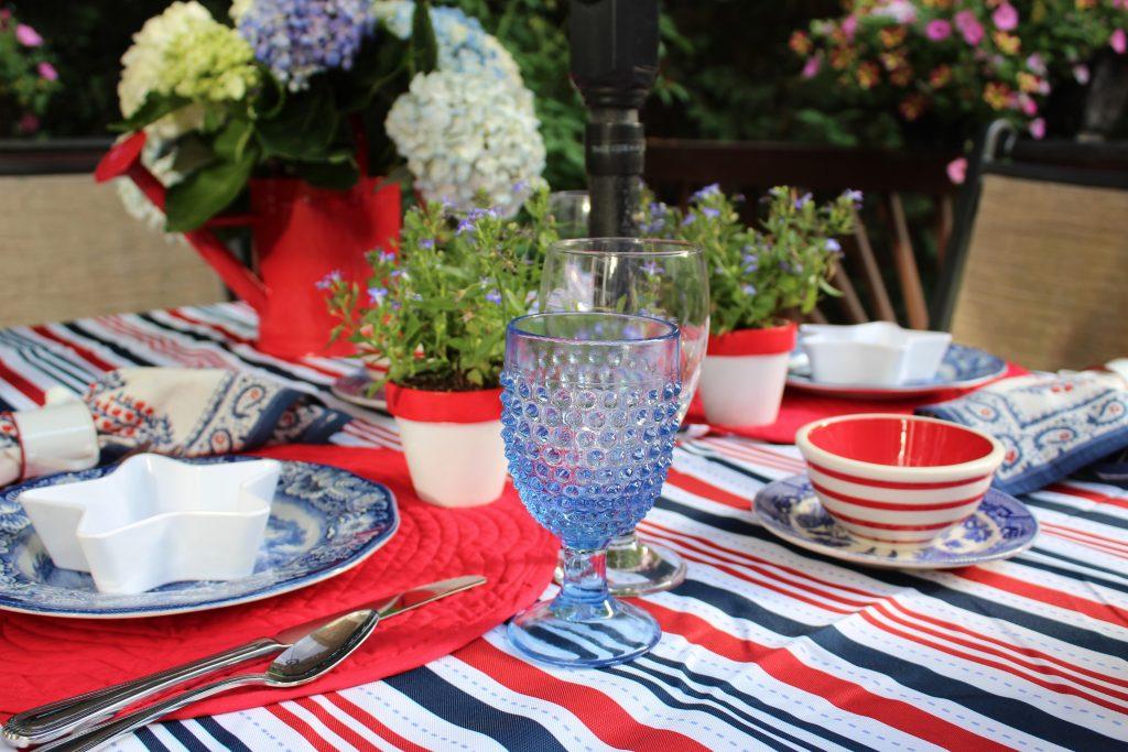 A patriotic tablescape