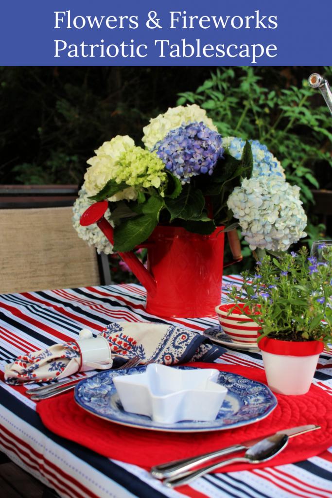 How to set a festive colorful patriotic tablescape.